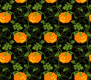 Van de Achtergrond pompoenen van Halloween patroon Royalty-vrije Stock Foto