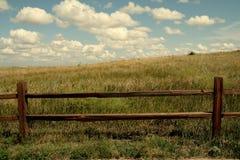 Van de achtergrond prairieomheining behang royalty-vrije stock foto
