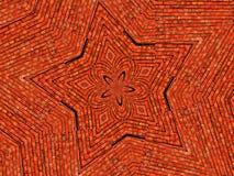 Van de Achtergrond ster van de baksteen behang Stock Foto's