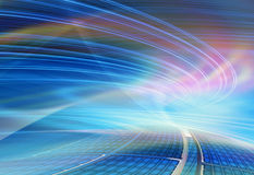 Van de achtergrond technologie illustratie, abstracte snelheid Stock Fotografie