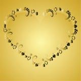 Van de achtergrond valentijnskaart elementen Royalty-vrije Stock Foto's