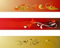 Van de achtergrond valentijnskaart elementen Stock Fotografie