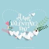 Van de achtergrond valentijnskaartendag Ontwerp Vector illustratie Stock Fotografie