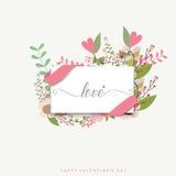Van de achtergrond valentijnskaartendag Ontwerp Vector illustratie Stock Foto's