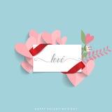 Van de achtergrond valentijnskaartendag Ontwerp Vector illustratie Royalty-vrije Stock Foto's
