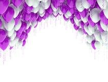 Van de achtergrond viering ballons Stock Afbeeldingen