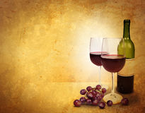 Van de Achtergrond viering van het Glas van de wijn Gebied Royalty-vrije Stock Foto's