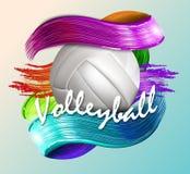 Van de achtergrond volleyballbal tekst Stock Fotografie