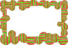Van de achtergrond waterverftextuur kader Hand getrokken kleurrijke strepen en cirkelsgrens stock illustratie