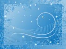 Van de achtergrond winter Blauw Royalty-vrije Stock Fotografie