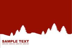 Van de achtergrond winter rood Royalty-vrije Stock Afbeeldingen