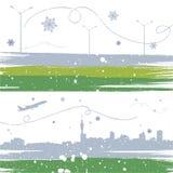 Van de achtergrond winter vector Stock Foto