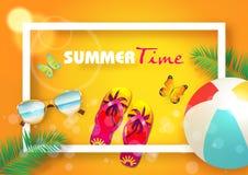 Van de achtergrond zomer vector royalty-vrije stock afbeelding