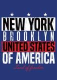 Van de de affiche de Amerikaanse trots van New York kleurrijke verontruste kleding royalty-vrije illustratie