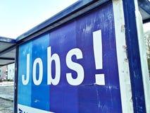 Van de affichebanen van de banentoepassing adverterende het werkarbeider royalty-vrije stock afbeeldingen