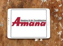 Van de Amana het verwarmen en airconditioning bedrijfembleem Stock Foto