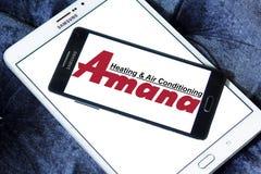 Van de Amana het verwarmen en airconditioning bedrijfembleem Stock Foto's
