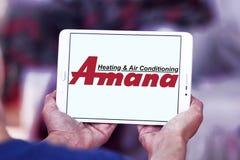 Van de Amana het verwarmen en airconditioning bedrijfembleem Royalty-vrije Stock Fotografie