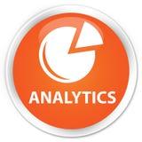 Van de Analytics (grafiekpictogram) premie de oranje ronde knoop Stock Afbeeldingen