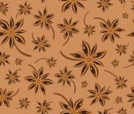 Van de anijsplant naadloos patroon als achtergrond Royalty-vrije Stock Fotografie