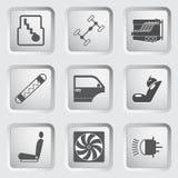 Van de autodeel en dienst de pictogrammen plaatsen 3. Royalty-vrije Stock Foto's