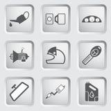 Van de autodeel en dienst de pictogrammen plaatsen 4. Royalty-vrije Stock Foto's