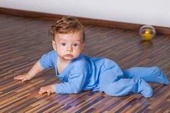 7 van de babymaanden jongen Royalty-vrije Stock Afbeelding