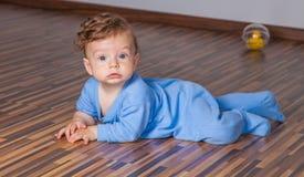 7 van de babymaanden jongen Royalty-vrije Stock Fotografie