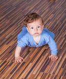 7 van de babymaanden jongen Royalty-vrije Stock Foto's