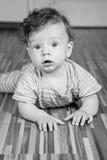 7 van de babymaanden jongen Stock Afbeeldingen