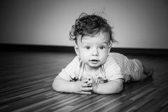 7 van de babymaanden jongen Stock Afbeelding