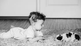 7 van de babymaanden jongen Royalty-vrije Stock Foto