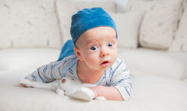 3 van de babymaanden oud jongen Royalty-vrije Stock Foto's