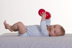 6 van de babymaanden oud jongen Stock Foto