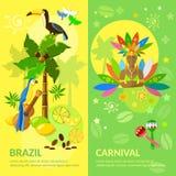 Van de banners de Braziliaanse Carnaval van Brazilië Braziliaanse cultuur Royalty-vrije Stock Afbeeldingen
