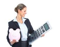 Van de bedrijfs accountant vrouw stock afbeelding