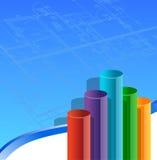 Van de bedrijfs architectuur grafiek Stock Foto's