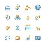 Van de bedrijfs contour pictogrammen Stock Afbeeldingen