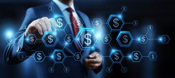 Van van de bedrijfs dollarmunt de Technologieconcept Bankwezenfinanciën stock illustratie