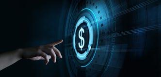 Van van de bedrijfs dollarmunt de Technologieconcept Bankwezenfinanci?n royalty-vrije stock fotografie