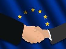 Van de bedrijfs Europese Unie handdruk Stock Foto