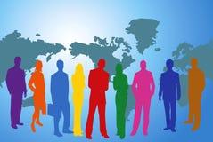 Van de bedrijfs kleur mensen stock illustratie