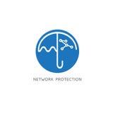 Van de bedrijfs netwerkbescherming vectorconcept Stock Fotografie