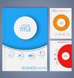 Van de bedrijfs ontwerpkleur brochures Stock Afbeeldingen