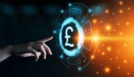 Van van de bedrijfs pondmunt de Technologieconcept Bankwezenfinanciën stock afbeelding