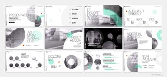Van de bedrijfs presentatie Template Groene geometrische elementen voor diapresentaties op een witte achtergrond Royalty-vrije Stock Afbeelding
