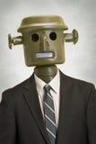 Van de bedrijfs robot persoon stock foto