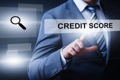 Van de de Bedrijfs scoregeschiedenis van de kredietscore het Concept de Schuld van Technologieinternet stock afbeelding