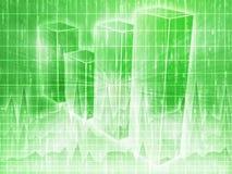 Van de bedrijfs spreadsheet grafieken stock illustratie