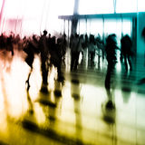 Van de bedrijfs stad mensen abstracte achtergrond Stock Fotografie